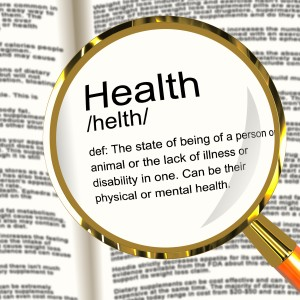 Health Definition Magnifier Showing Wellbeing Fit Condition Or Healthy